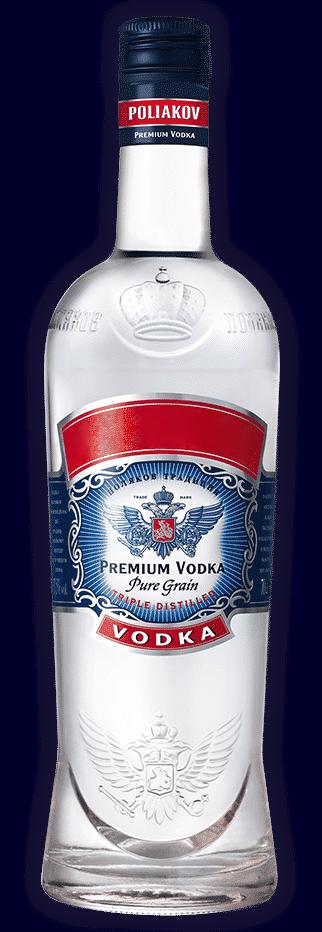 l'image du bolle de vodka 'Poliakov'